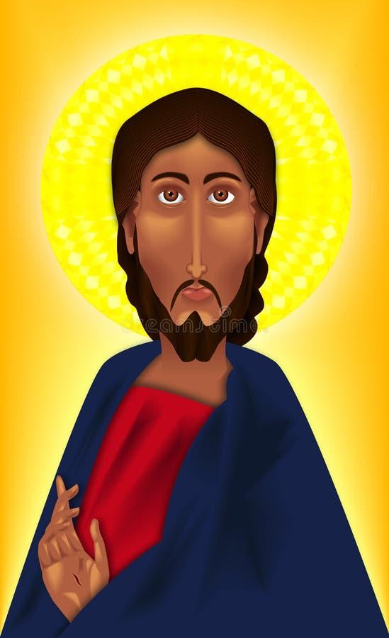 икона christ иллюстрация вектора