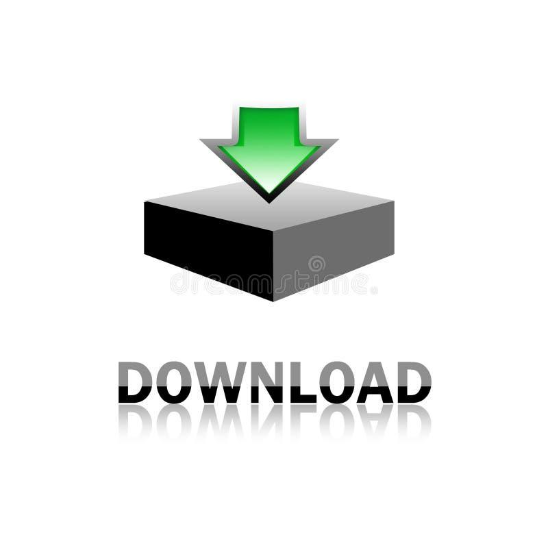 икона download иллюстрация штока