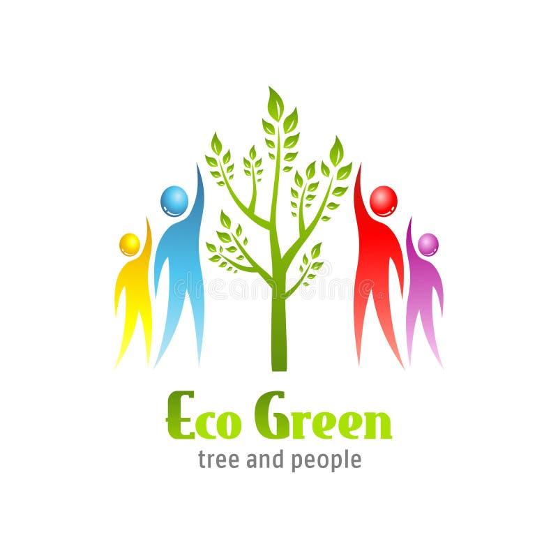 Икона Eco зеленая иллюстрация вектора