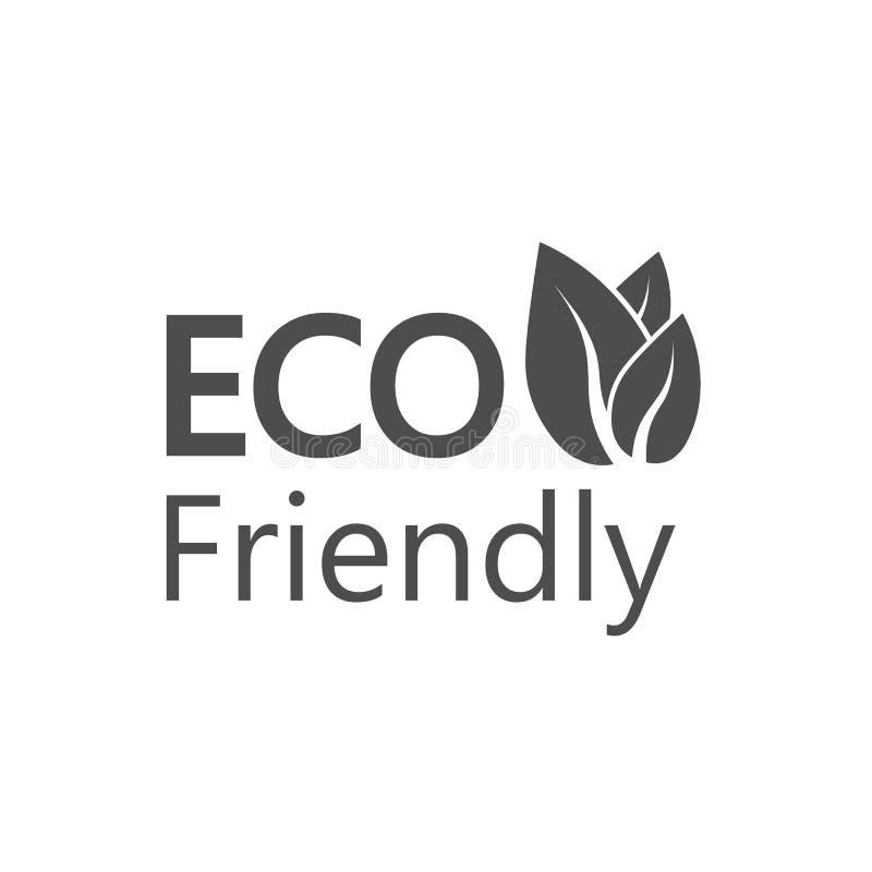 Икона Eco Знак Eco дружелюбный Иллюстрация вектора, плоский дизайн бесплатная иллюстрация