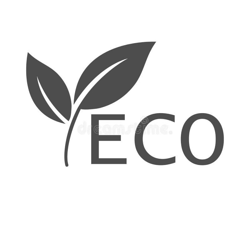 Икона Eco Знак экологичности Иллюстрация вектора, плоский дизайн иллюстрация штока