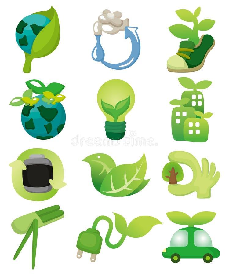икона eco шаржа иллюстрация вектора