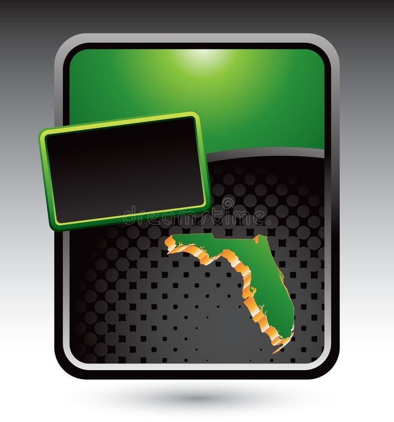 икона florida рекламы зеленая стилизованная иллюстрация вектора