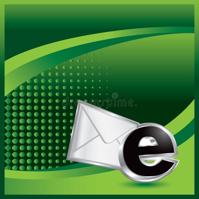 икона halftone зеленого цвета электронной почты рекламы бесплатная иллюстрация