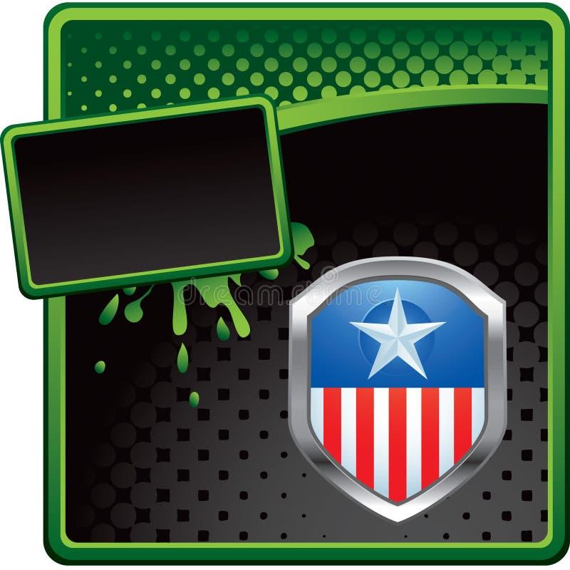 икона halftone объявления черная зеленая патриотическая иллюстрация штока