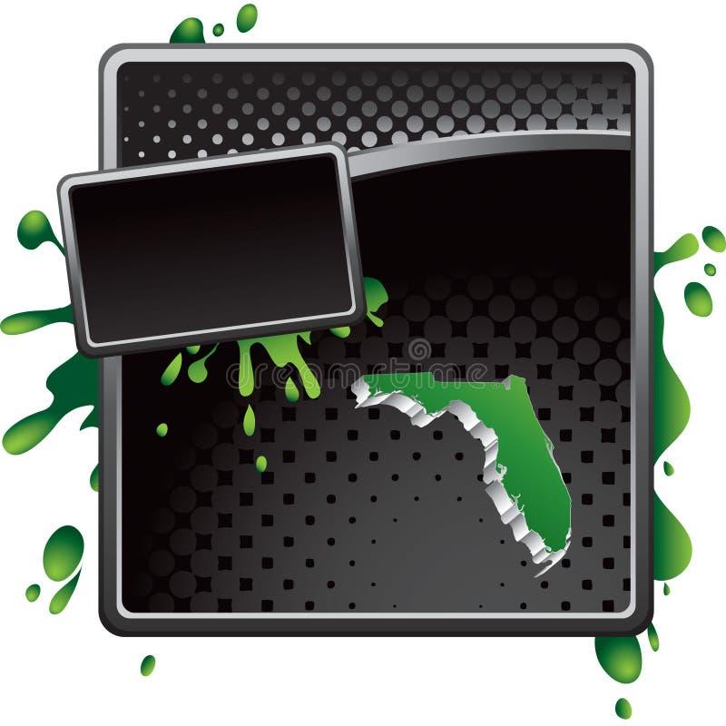 икона halftone florida рекламы черная иллюстрация штока