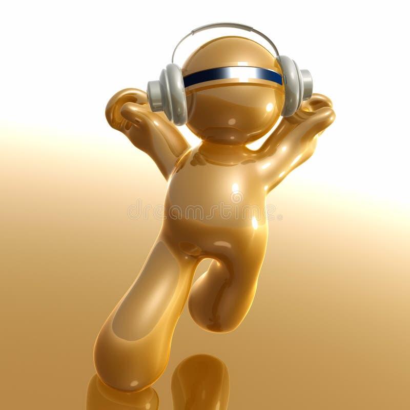икона humanoid 3d слушая к нот иллюстрация штока