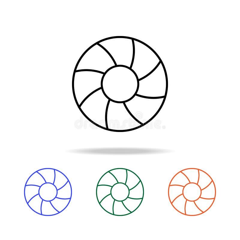 икона lifebuoy Элементы простого значка сети в multi цвете Наградной качественный значок графического дизайна Простой значок для  иллюстрация штока