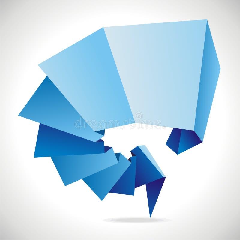 Икона Origami иллюстрация вектора