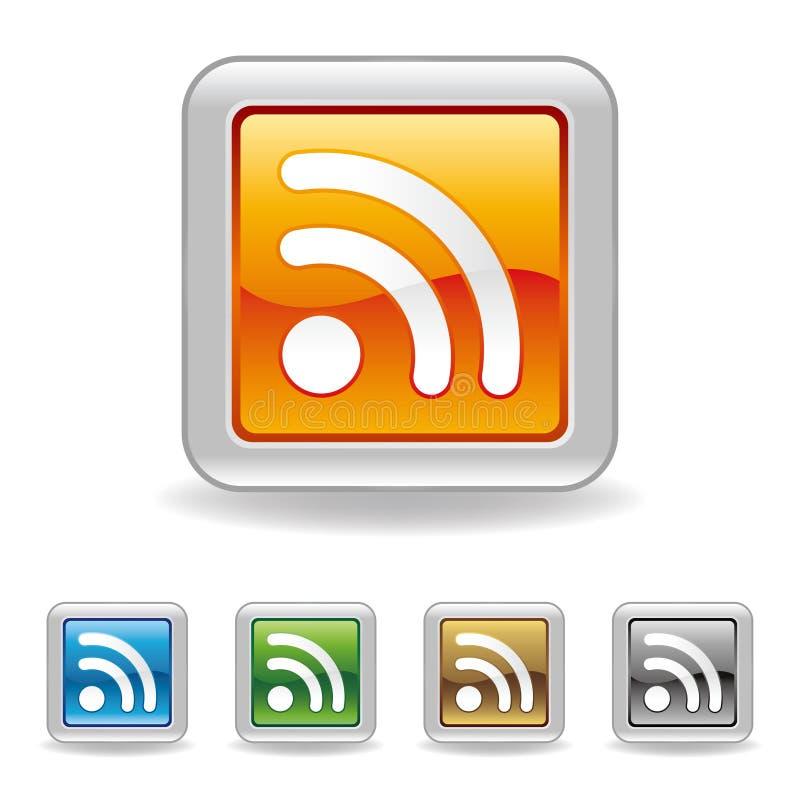 Икона RSS бесплатная иллюстрация