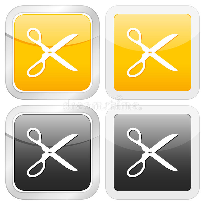 икона scissors квадрат иллюстрация штока