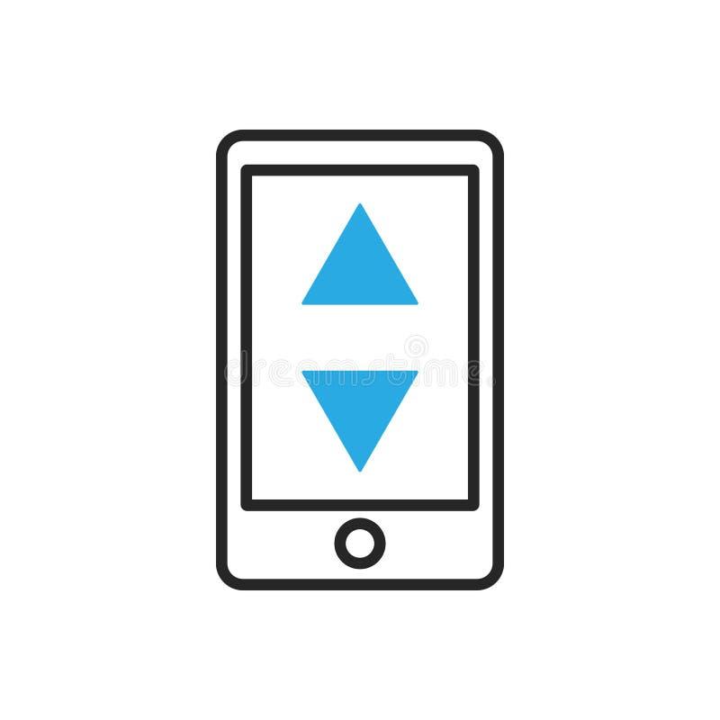 Икона Smartphone Чернь регулирует установки бесплатная иллюстрация