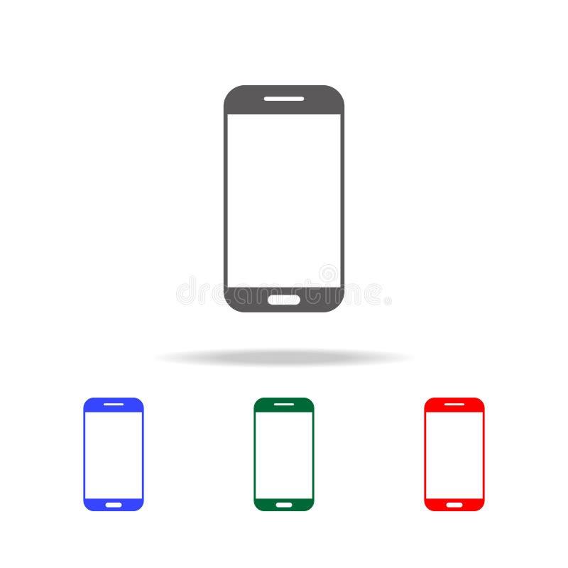 Икона Smartphone Элементы в multi покрашенных значках для передвижных apps концепции и сети Значки для дизайна вебсайта и развити иллюстрация вектора