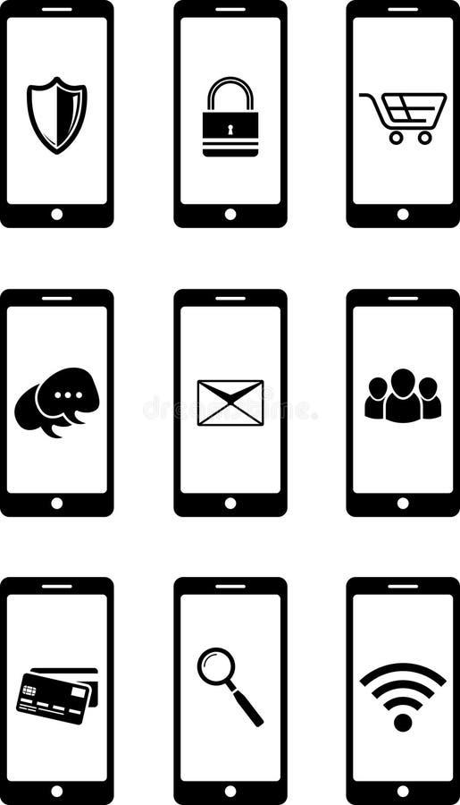 Икона Smartphone иллюстрация вектора