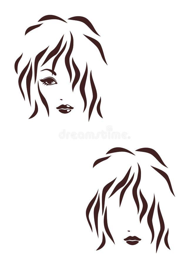 Икона stile волос иллюстрация штока