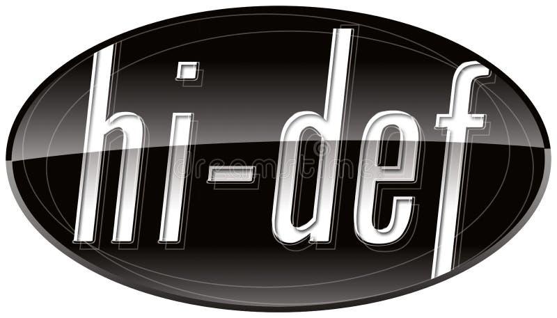 икона tv hd def высокая иллюстрация вектора