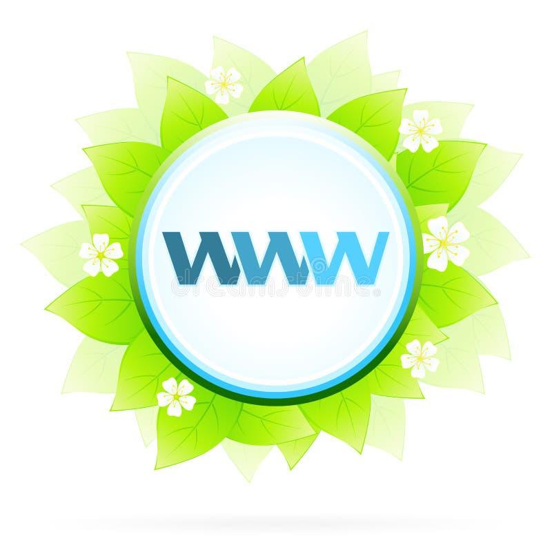 Икона WWW и интернет иллюстрация штока
