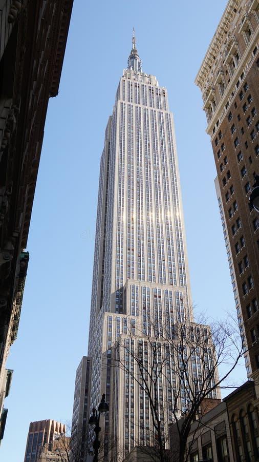 Иконический Эмпайр Стейт Билдинг небоскреба в Манхаттане, Нью-Йорке стоковое изображение rf