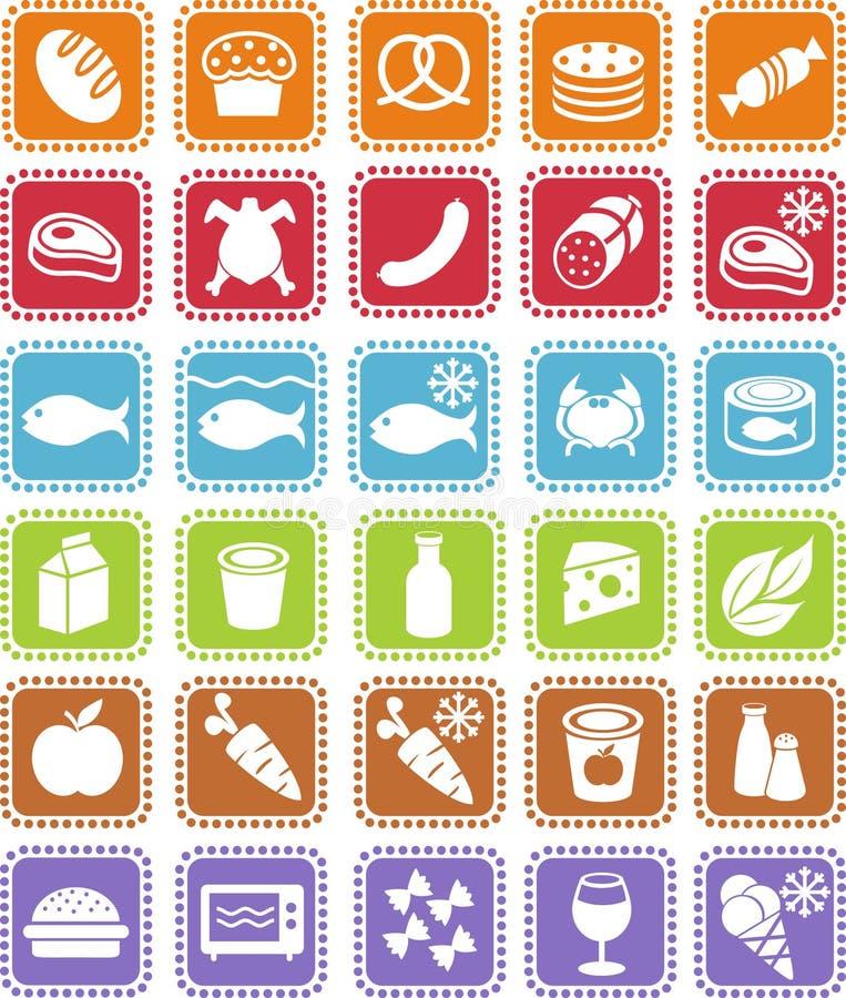 иконы бакалеи бесплатная иллюстрация
