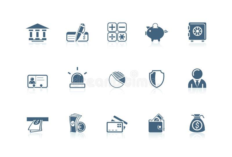 иконы банка иллюстрация вектора