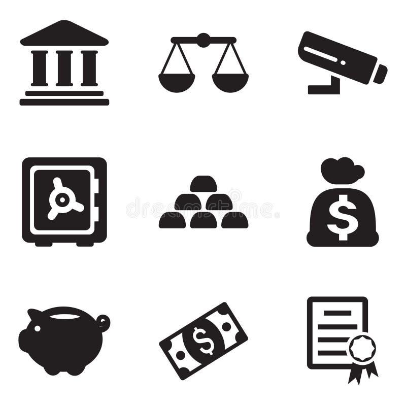 Иконы банка иллюстрация штока