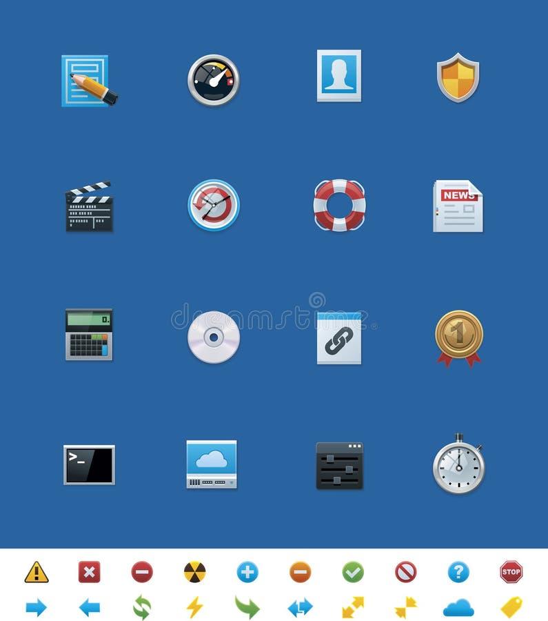 Иконы вебсайта вектора общие для вебмастеров иллюстрация штока