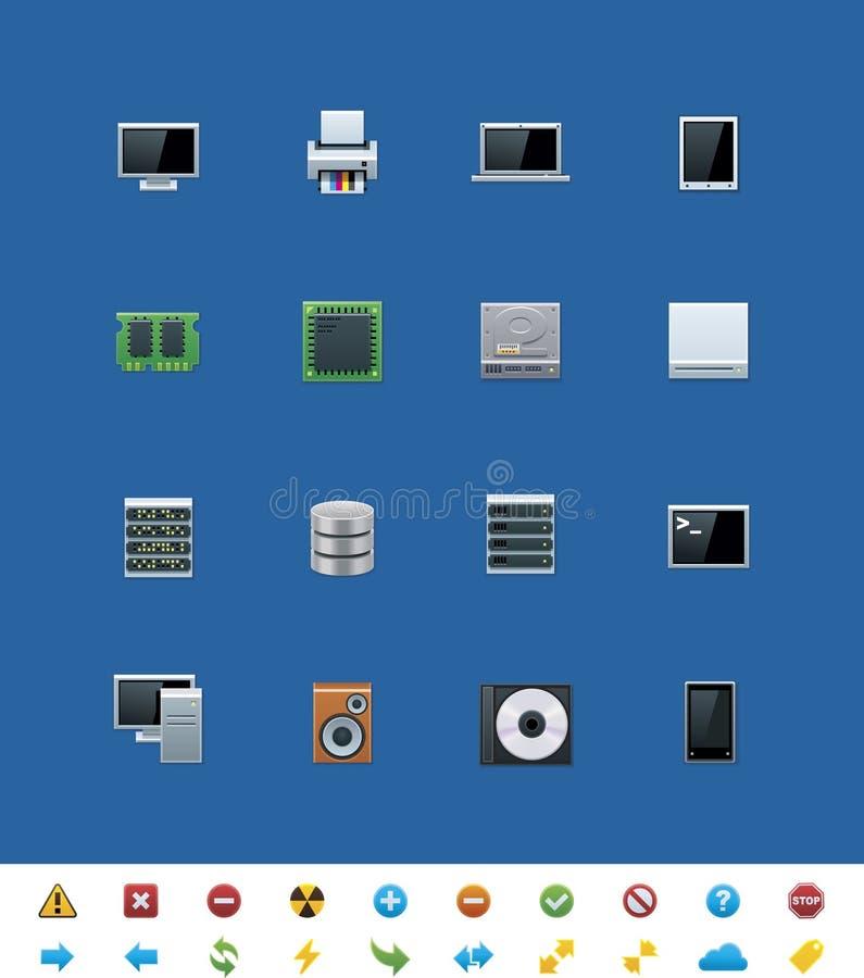 Иконы вебсайта вектора общие. Оборудование иллюстрация вектора