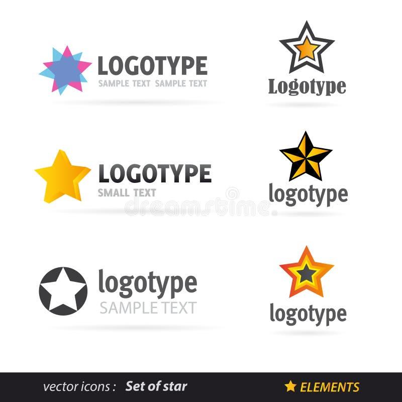 Комплект логоса звезды иллюстрация штока