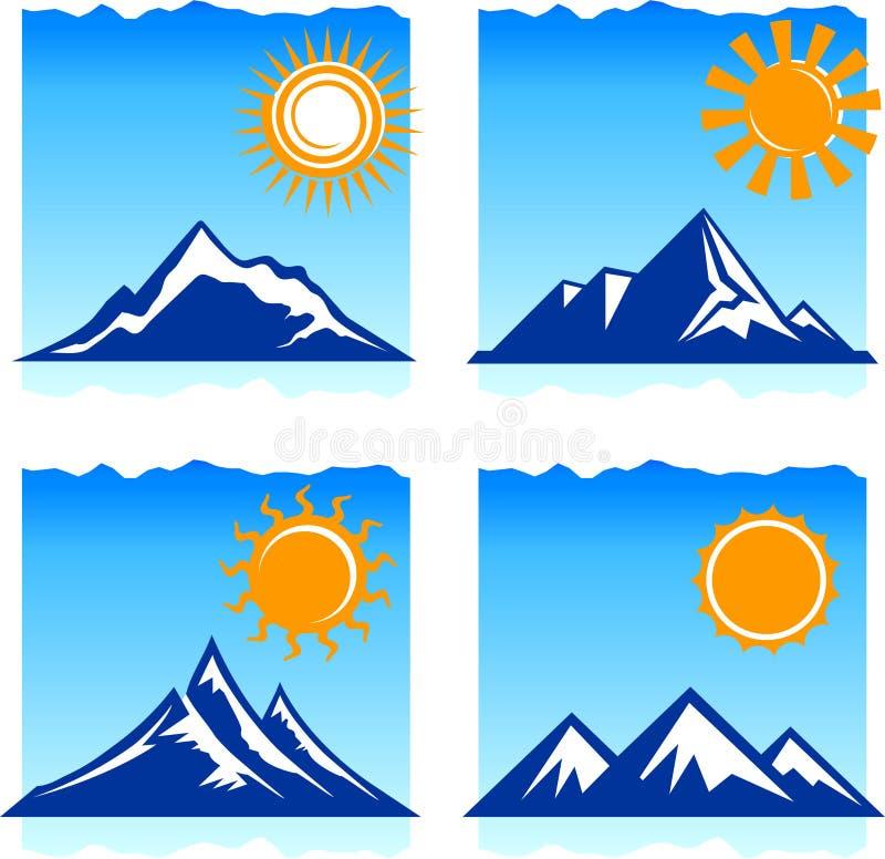 Иконы гор иллюстрация вектора