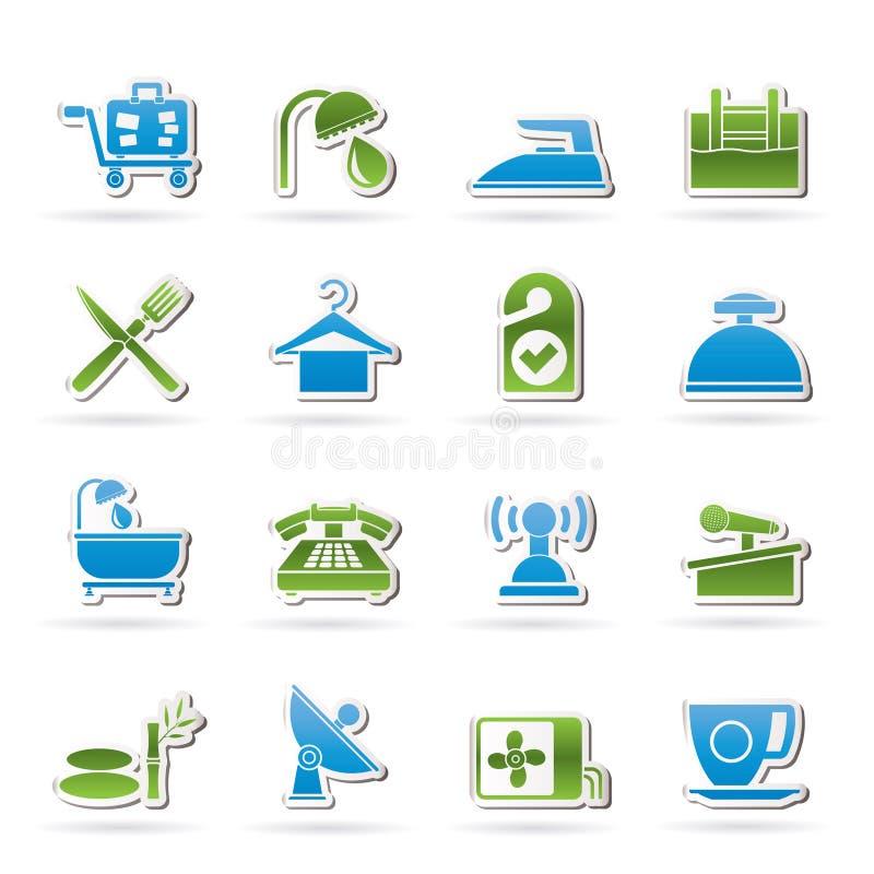 Иконы гостиницы и мотеля бесплатная иллюстрация
