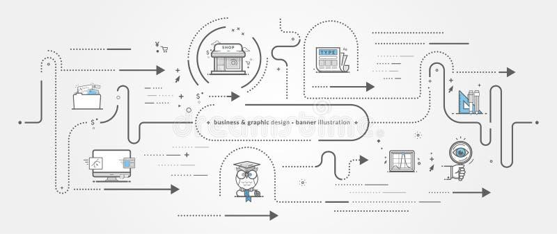 Иконы графической конструкции стоковое изображение rf