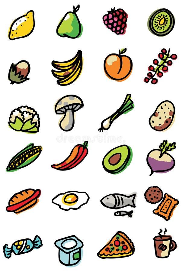 иконы еды иллюстрация штока