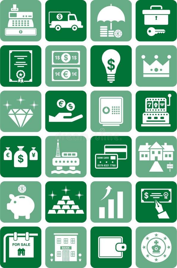Иконы денег & финансов иллюстрация вектора