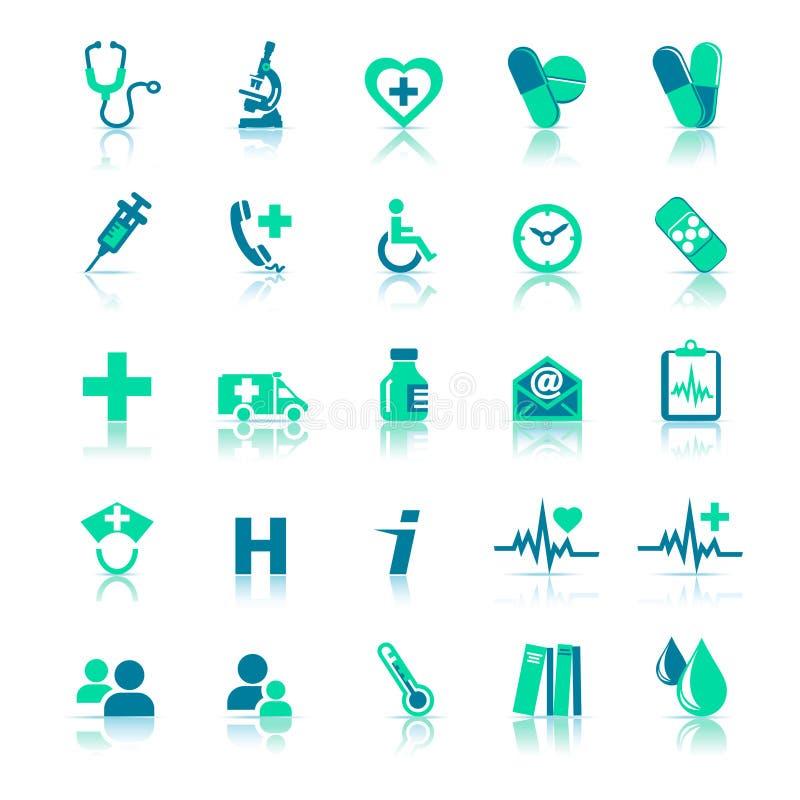 иконы здоровья внимательности иллюстрация штока