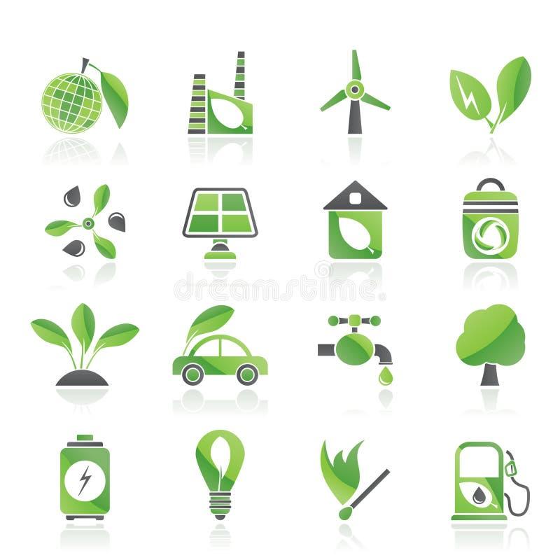 иконы зеленого цвета окружающей среды экологичности бесплатная иллюстрация