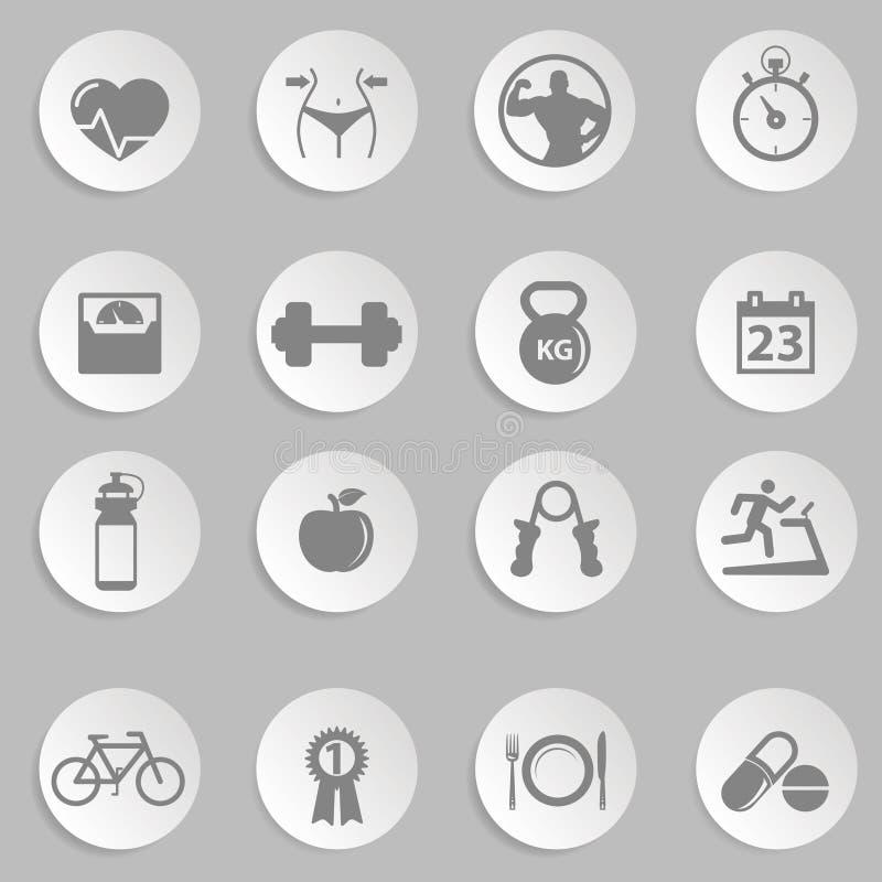 Иконы здоровья и пригодности бесплатная иллюстрация