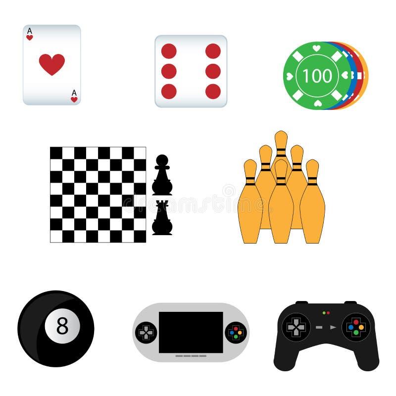иконы игры иллюстрация вектора