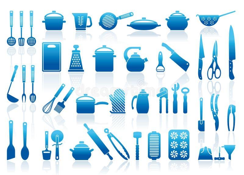 Иконы изделий кухни иллюстрация вектора