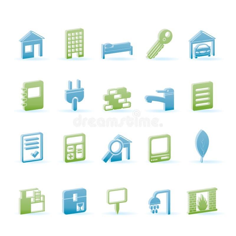 иконы имущества здания реальные бесплатная иллюстрация