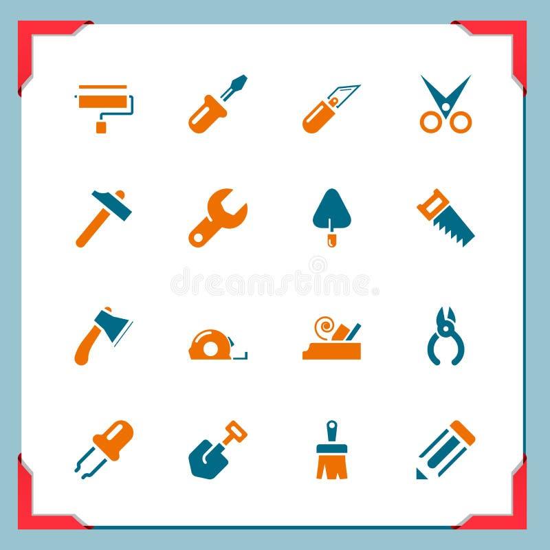 Иконы инструмента работы | В серии рамки бесплатная иллюстрация