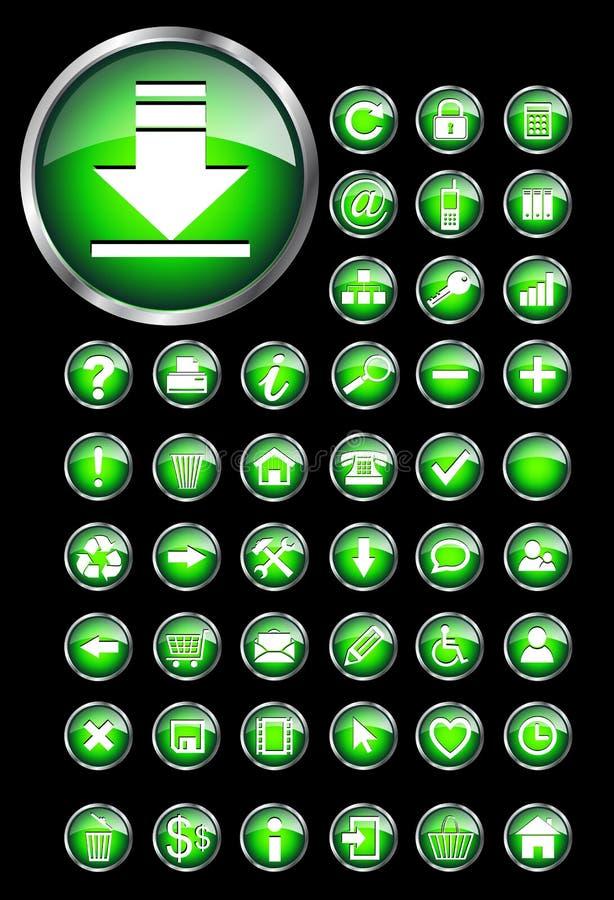 иконы кнопок установили сеть бесплатная иллюстрация