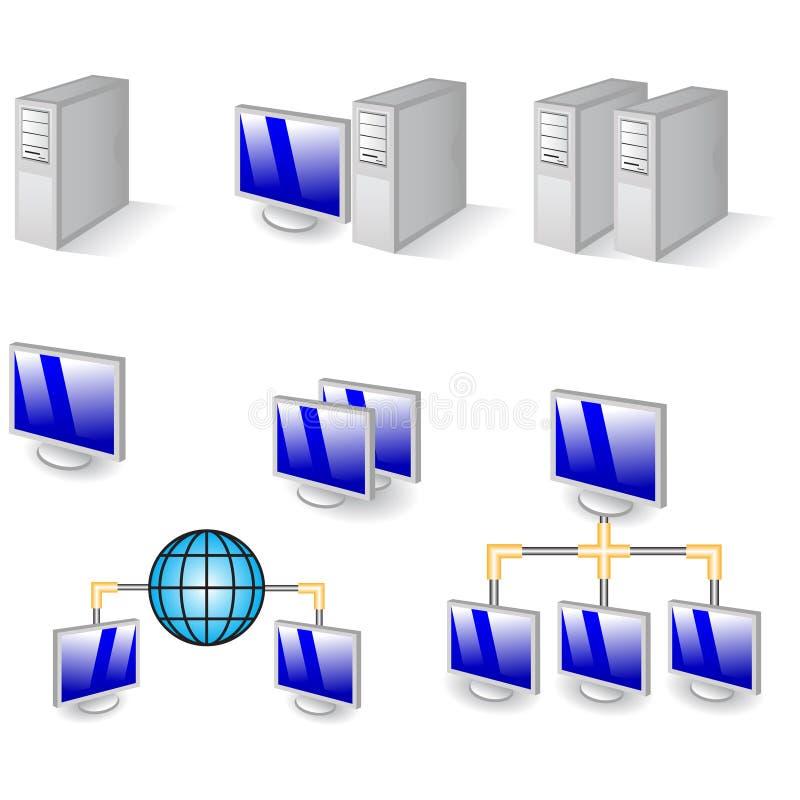 иконы компьютера иллюстрация штока
