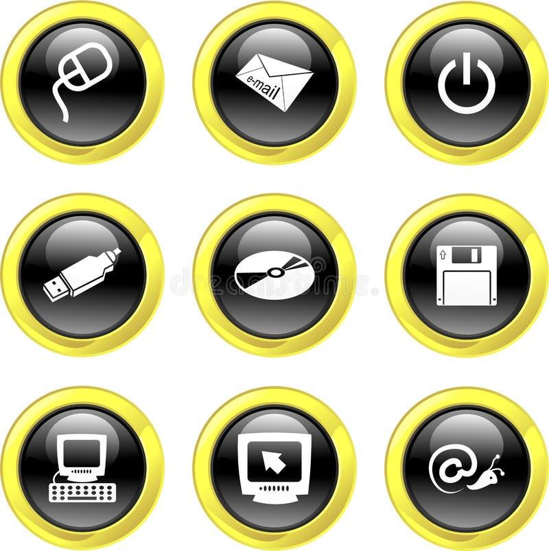 иконы компьютера бесплатная иллюстрация