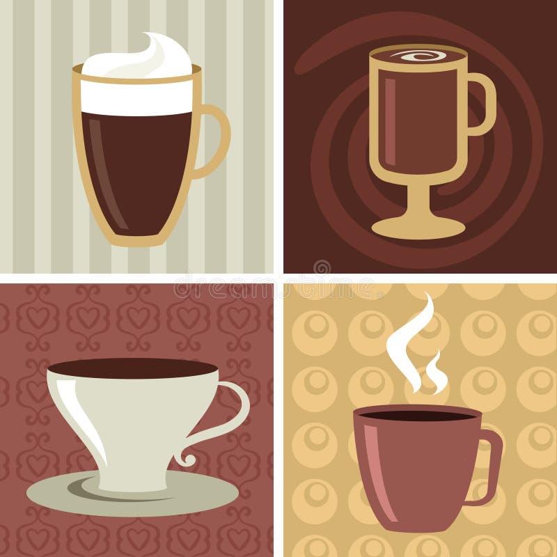 Иконы кофе/установленный логос - 2 иллюстрация вектора