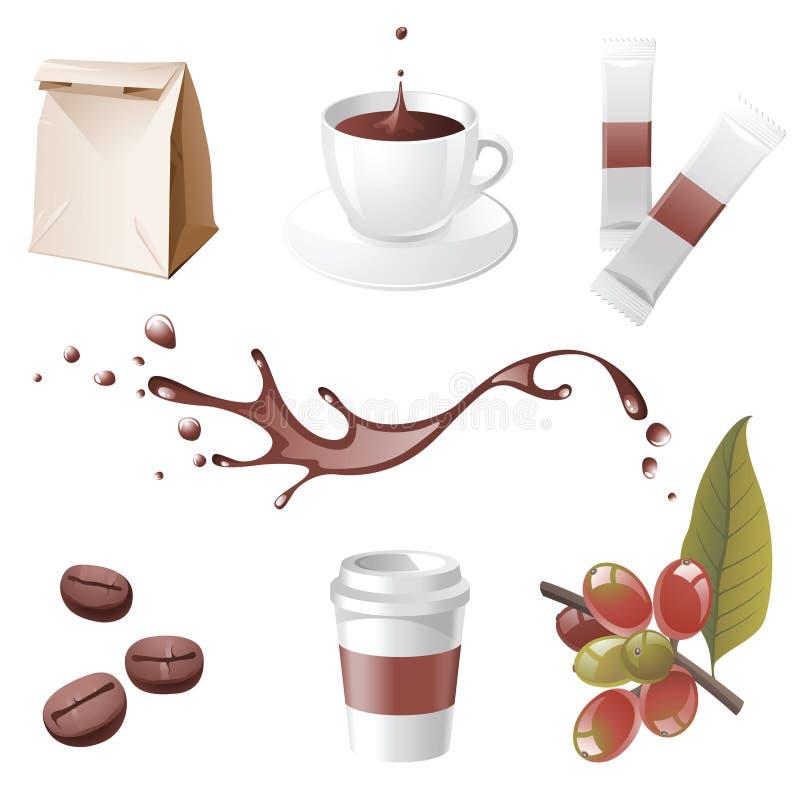 иконы кофе иллюстрация штока