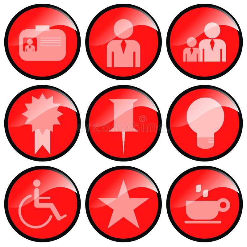 иконы красные иллюстрация вектора