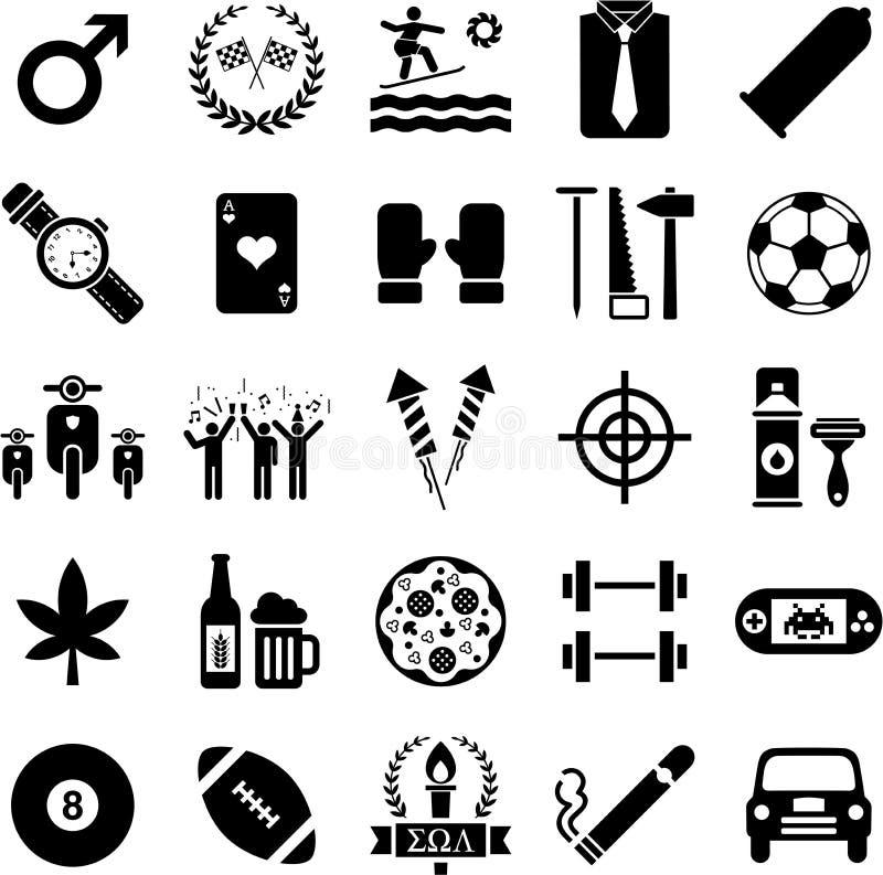 Иконы мальчиков иллюстрация вектора