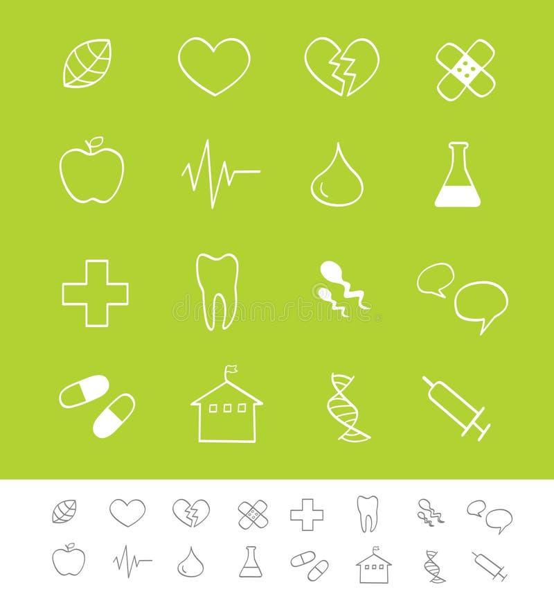 иконы медицинского соревнования медицинские иллюстрация штока