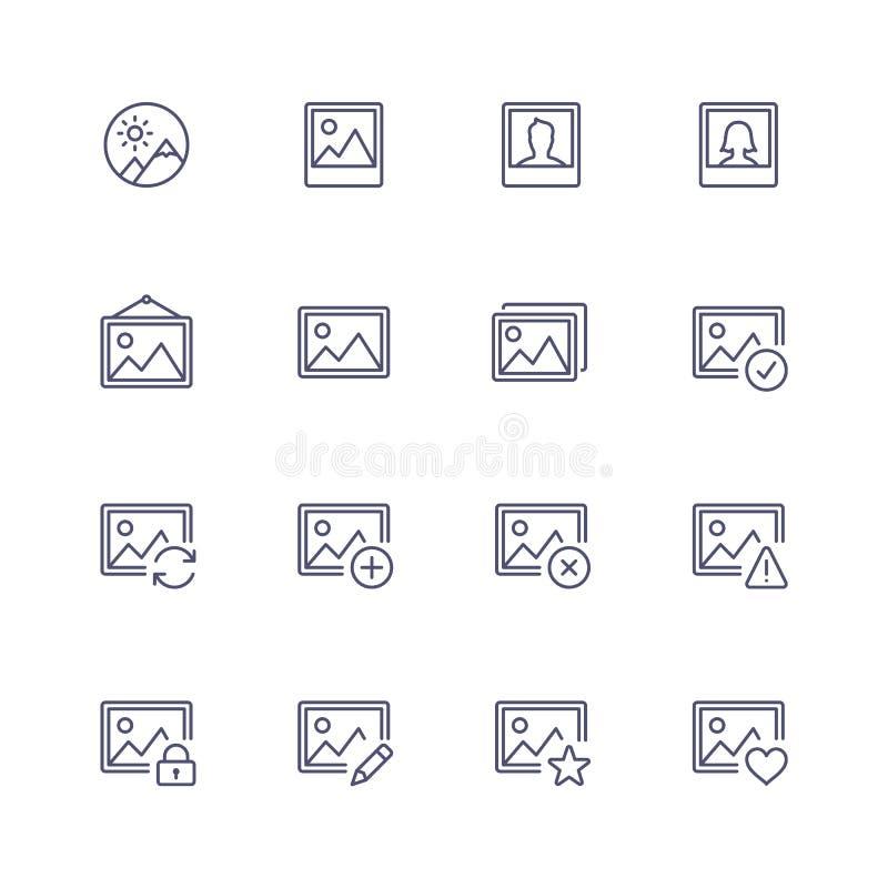 Иконы мультимедиа иллюстрация штока