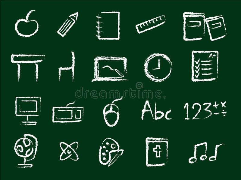 иконы образования Стоковая Фотография RF